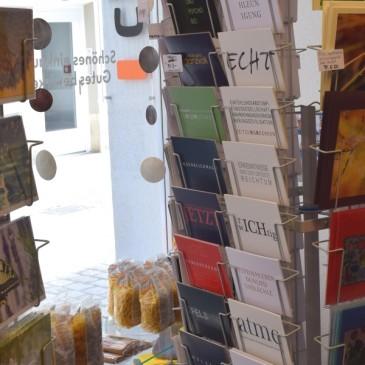 Postkartenverkauf in Schaffhausen